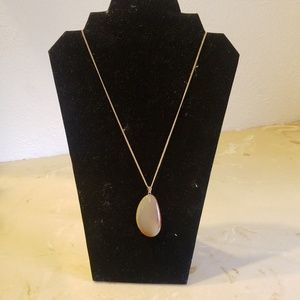 Marbled stone necklace